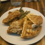 Fried Chicken and Waffles for brunch!
