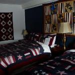 Neat quilt room