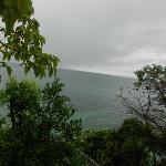 Blick vom Bungalow