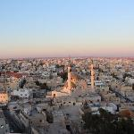 Nice view of Madaba town on top of the bell tower of Latin church