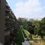 View across the balconies