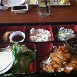 Delicious lunch tonkatsu bento box!