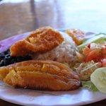 Cassada con pescado at Soda La Teresita