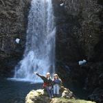 Waterfall that we kayaked to from Orca Island Cabins