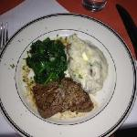 5 oz Filet Medallions with Spinach & Mashed Potatoes