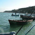 Barques sur la lagune de Naila
