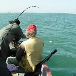 Action de peche sur la lagune