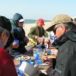 repas sur les dune en janvier