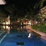 Busakorn pool at night.