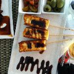 Haloumi and olives