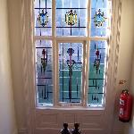Stained glass in hall