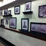 history wall in lobby
