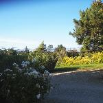The view from the entrance and gazebo at Meadowlark Inn by Solvang