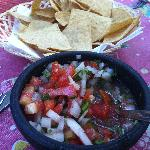 Fresh Pico and chips