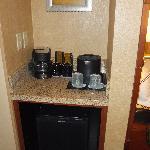coffee & refrigerator area
