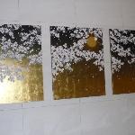 桜の金屏風風?