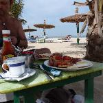 full english on the beach