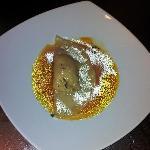 Tortellone siciliano su crema di zucca