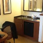Kitchenette and workspace