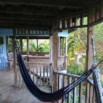 The deck with hammocks outside unit # 3