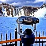 quedas d'água no inverno