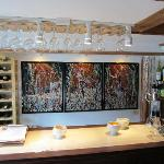 We shared a wonderful glass of wine here, great conversation with Wendy and enjoyed Geo's artwor