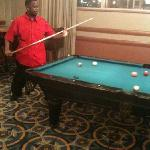 thad playing pool