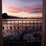 Blick aus dem Zimmer über den Vierwaldstättersee (garantiert unretouchiert!)