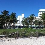 vista del hotel frente a playa