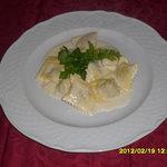 Tortelli di cinghiale con fonduta di parmigiano