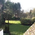 View from room over gardens