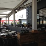 on the outdoor rooftop patio at Zengo
