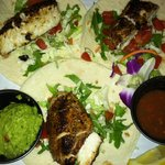 Fish tacos at Siesta Key Oyster Bar