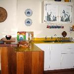 Kitchen in one of the villas