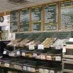 Part of menu and bagel racks