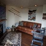 """The Orion Suite Living Room with 50"""" plasma TV & Blu-Ray, Gas Fireplace, Lake View"""