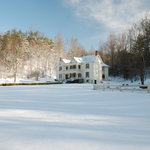 Front of house in snow