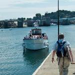 Ferry between St-Malo and Dinard docks very close to hotel