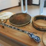 Dismantled banjo display.