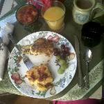 Wonderful Gourmet breakfast served in our room