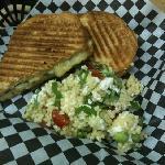 Panini and Pasta Salad