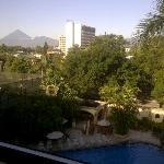 Poolside room with a view of the volcanic mountains!