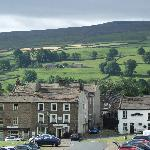 Reeth village from Buck bedroom window