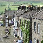 Reeth village from Buck Hotel window