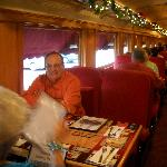 Shot from inside the parlor car