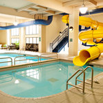 Hey kids!  Check out our Pool, Spa, 110' Waterslide, & Toddler Mushroom Cap