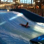 Daughter on the Flowrider