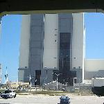 Vehicle Assembly Building doors opening