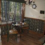 Cozy dining nook!