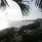 La spiaggi ed il mare visti dall'hotel